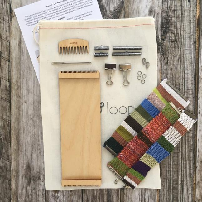 Purl & Loop Begynder Kit  - armbåndsvæv 10-fädige Kette