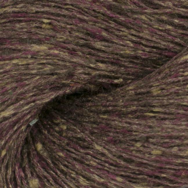 BC Garn Tussah Tweed on 1kg-cones aubergine-mix