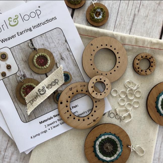 Purl & Loop Round Weaver Earring Kit 2,5cm M  M