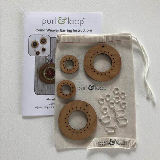 Purl & Loop Round Weaver Earring Kit 5cm L L