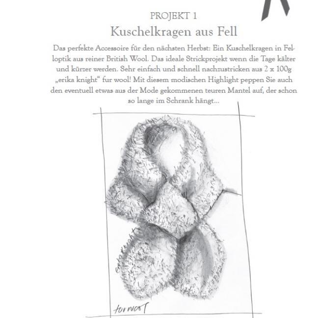 Erika Knight Einzelanleitungen/Patterns Vintage Wool und Fur Wool 1 Kuschelkragen Deutsch Fur Wool