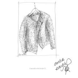 Erika Knight Printed Patterns for Vintage and Fur Wool Fur Jacket Englisch Fur Wool