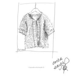Erika Knight Printed Patterns for Vintage and Fur Wool Rib Edge Fur Jacket Englisch Fur Wool