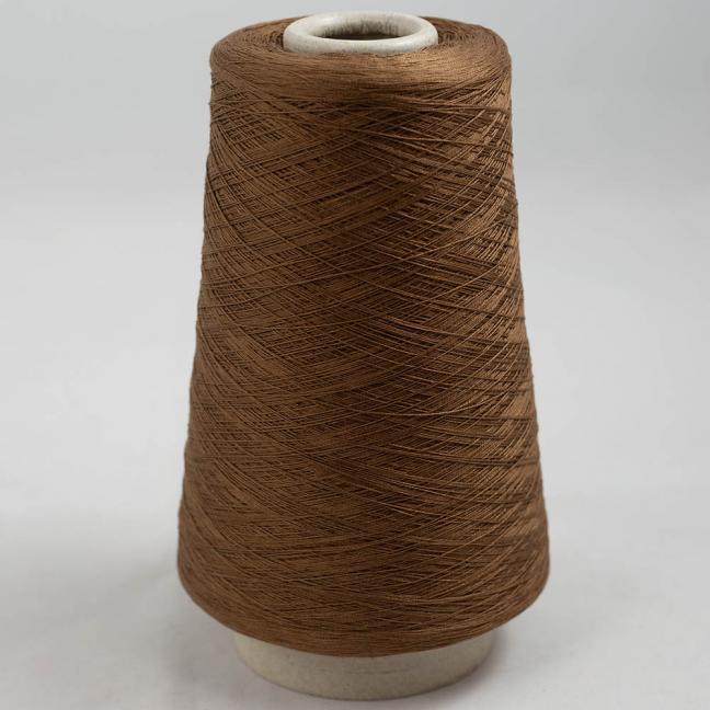 BC Garn Luxor Fino mercerized Cotton 200g Cone Braun