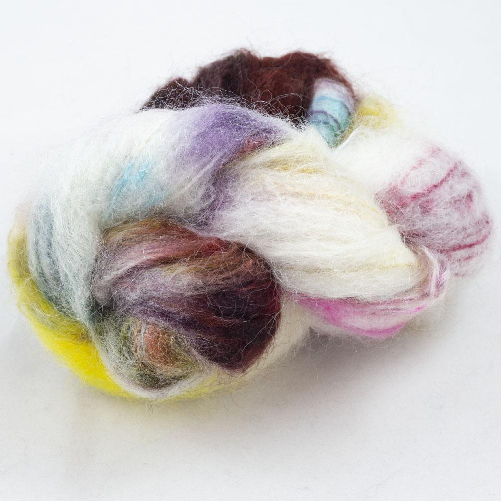 Cowgirl Blues Fluffy Mohair Gradient 100g Cape Carnival