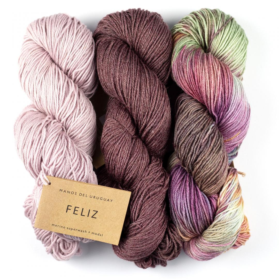 Manos del Uruguay Feliz hand-dyed 100g  Natural