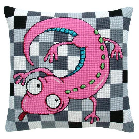 Fru Zippe Pillow Lizard 740353 Eidechse auf Karos
