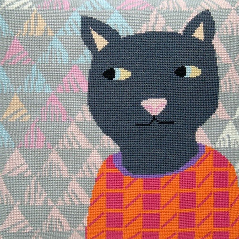 Fru Zippe Katze Kissen 74 0295  Katze