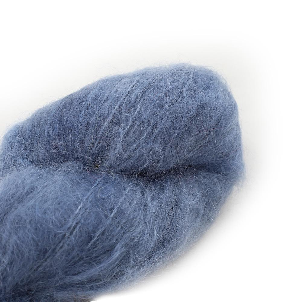 Cowgirl Blues Fluffy Mohair Semi Solids 100g 01-Airforce