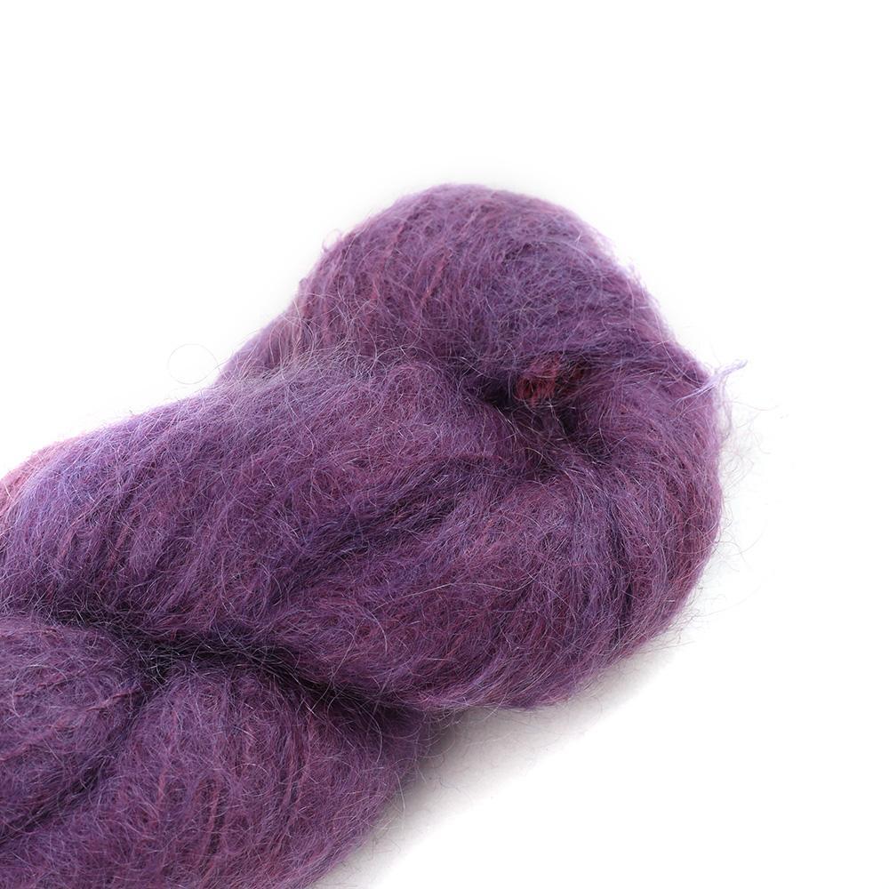 Cowgirl Blues Fluffy Mohair Semi Solids 100g 35-Aubergine