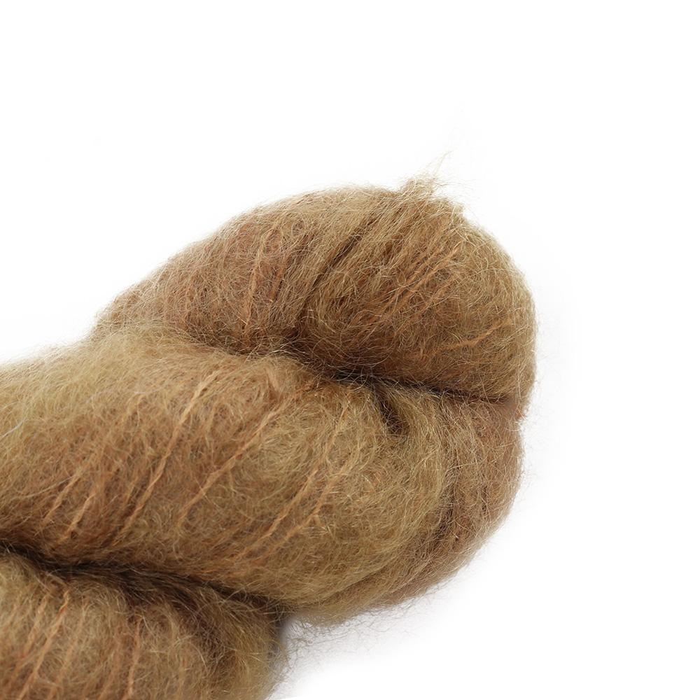 Cowgirl Blues Fluffy Mohair Semi Solids 100g 39-Camel