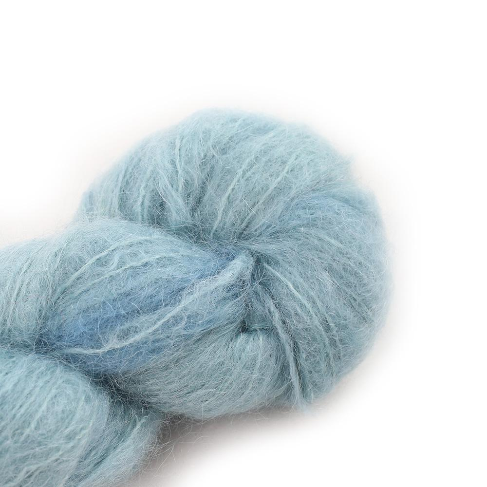 Cowgirl Blues Fluffy Mohair Semi Solids 100g 37-Celadon