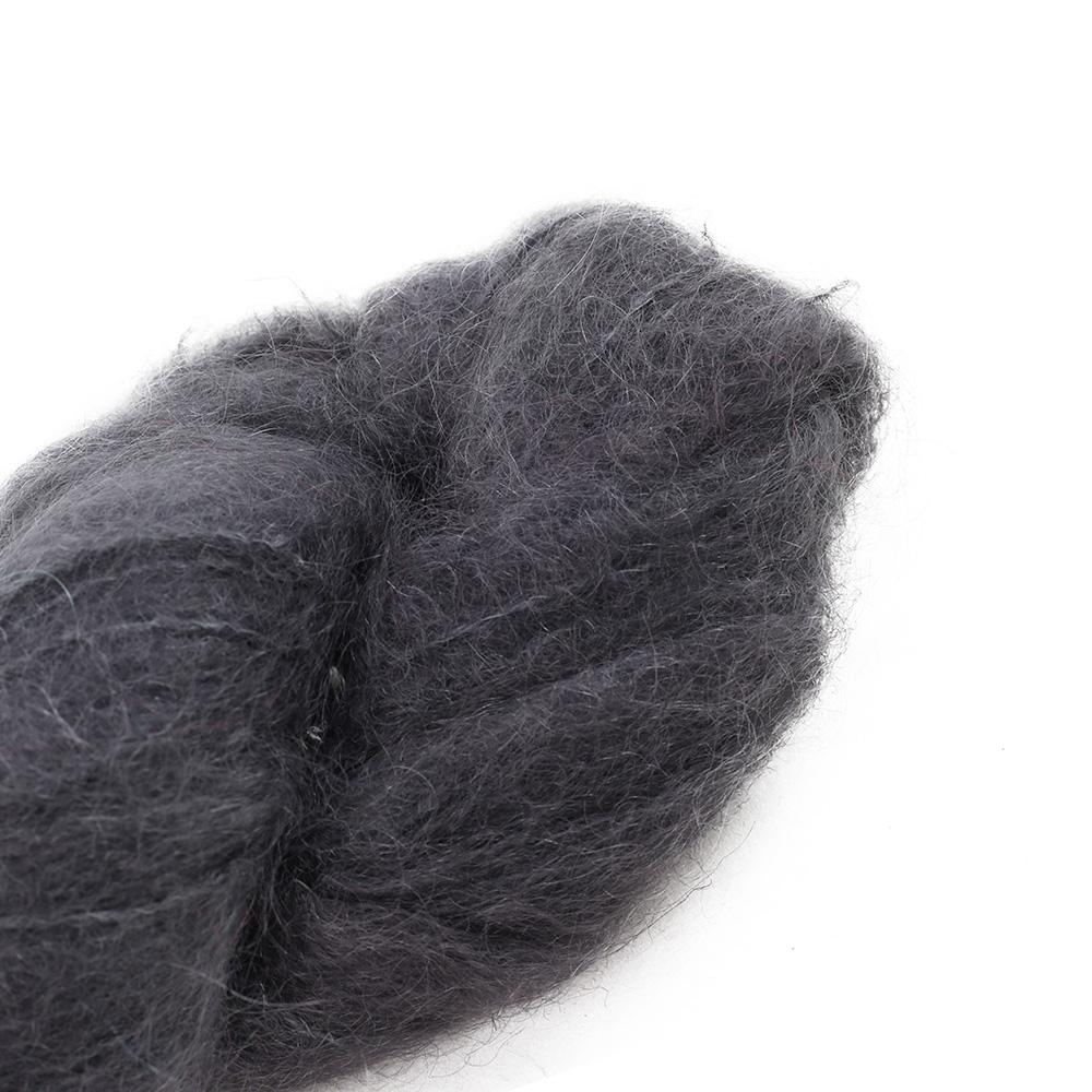 Cowgirl Blues Fluffy Mohair Semi Solids 100g 02-Charcoal