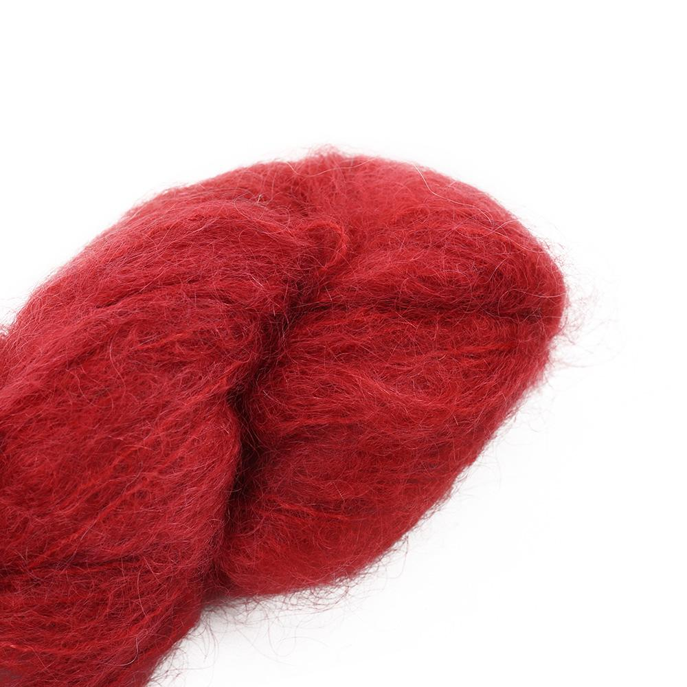 Cowgirl Blues Fluffy Mohair Semi Solids 100g 40-Chili Pepper