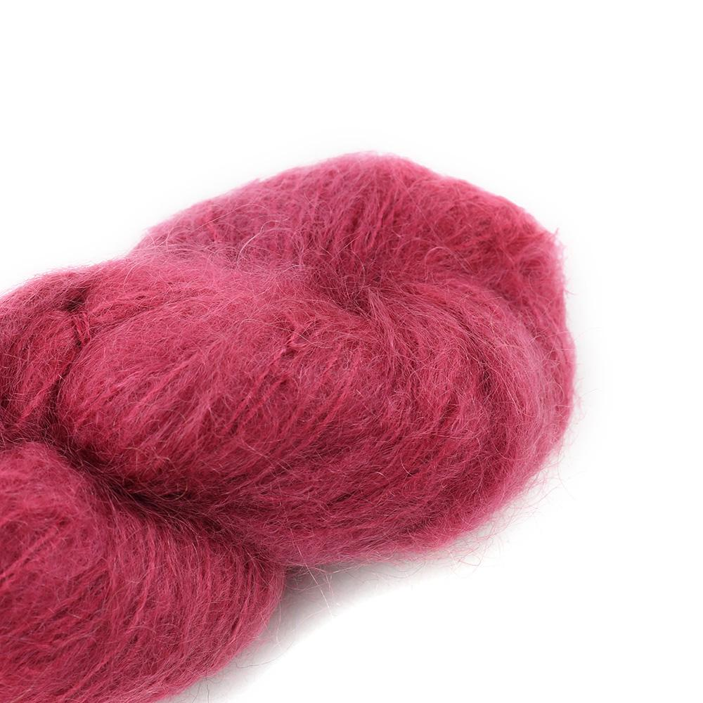 Cowgirl Blues Fluffy Mohair Semi Solids 100g 24-Dusty Rose