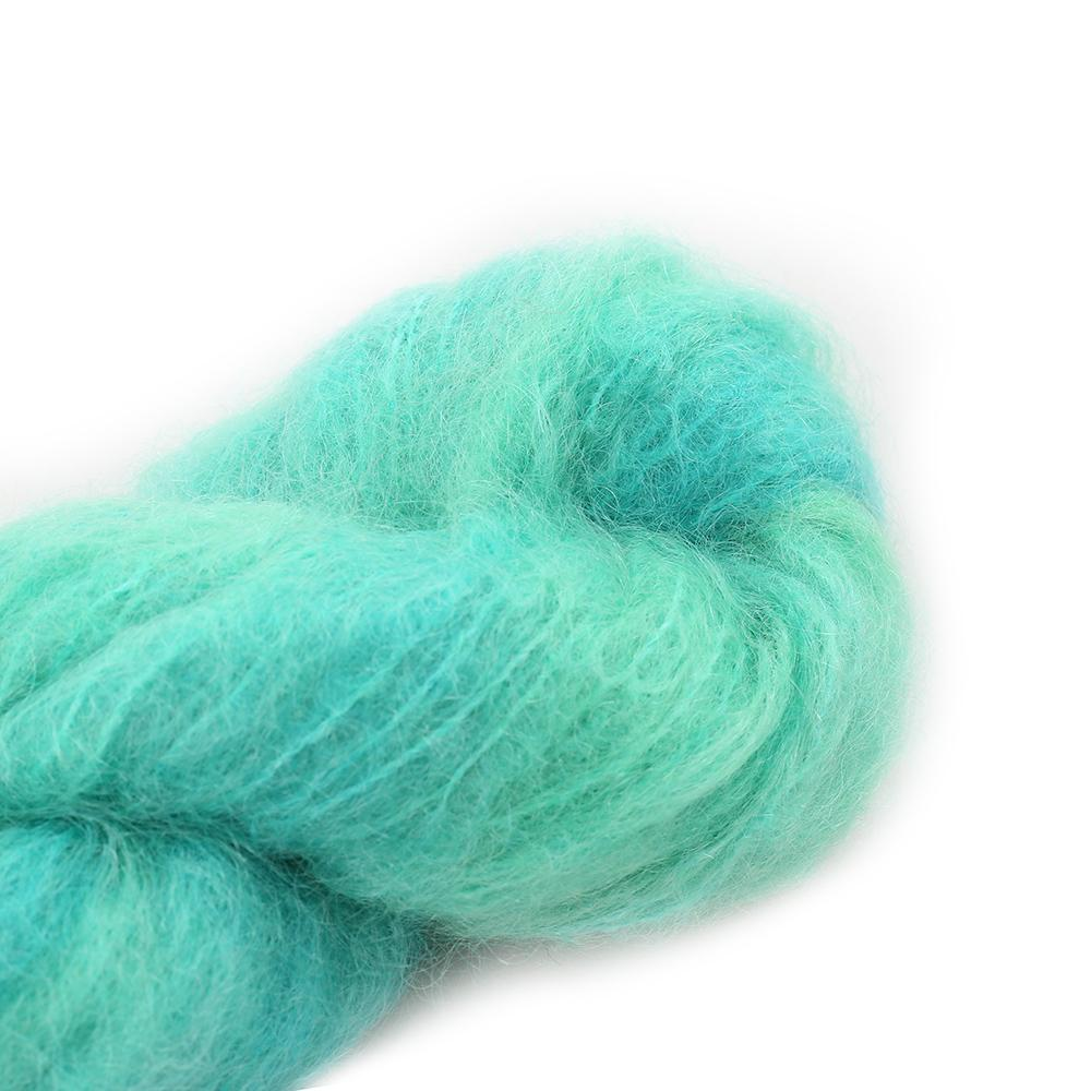 Cowgirl Blues Fluffy Mohair Semi Solids 100g 15-Emerald