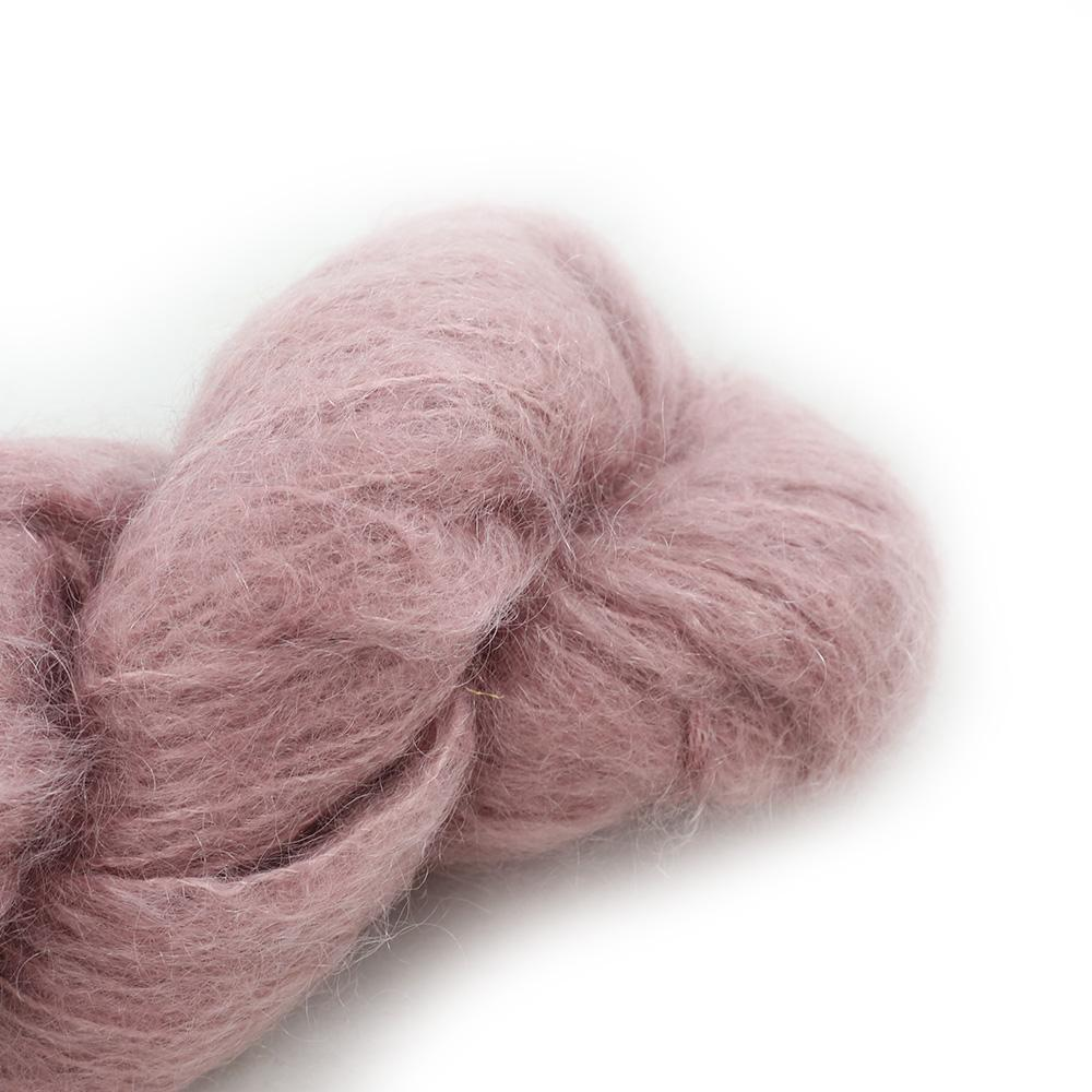 Cowgirl Blues Fluffy Mohair Semi Solids 100g 25-Faded Rose