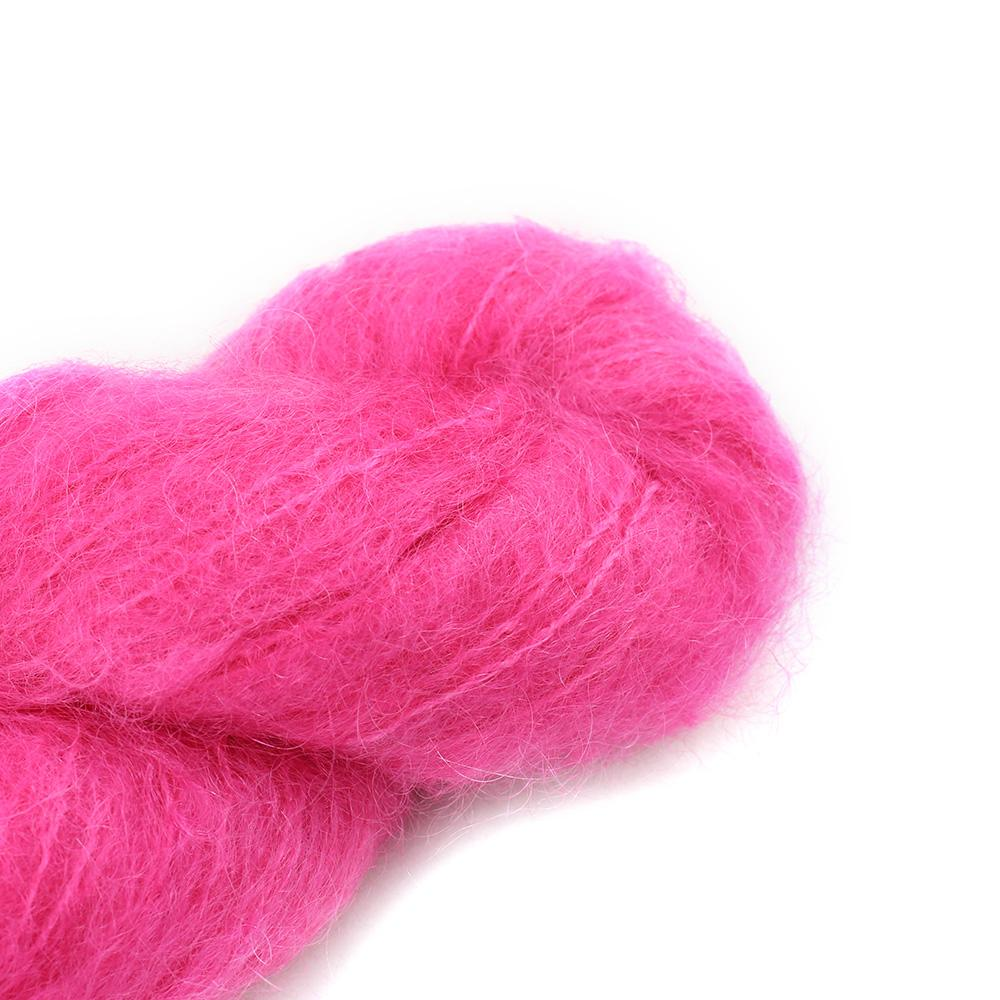 Cowgirl Blues Fluffy Mohair Semi Solids 100g 32-Hot Pink