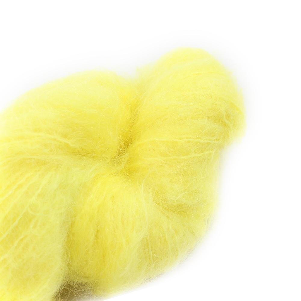 Cowgirl Blues Fluffy Mohair Semi Solids 100g 43-Lemon