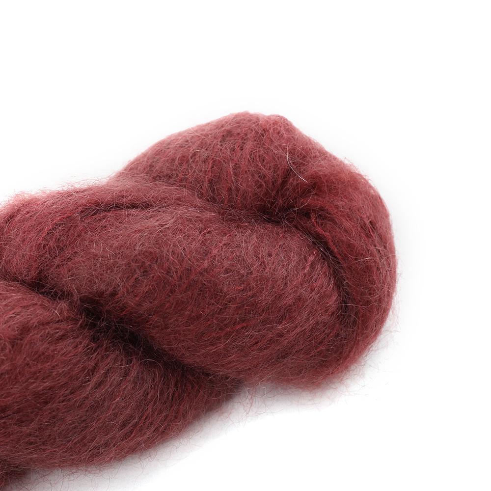 Cowgirl Blues Fluffy Mohair Semi Solids 100g 26-Marsala