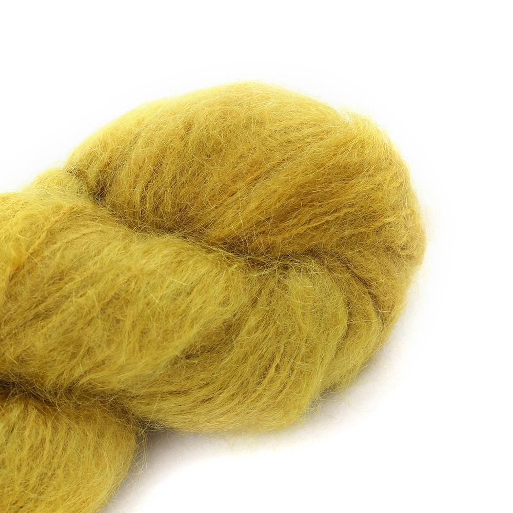 Cowgirl Blues Fluffy Mohair Semi Solids 100g 09-Mustard