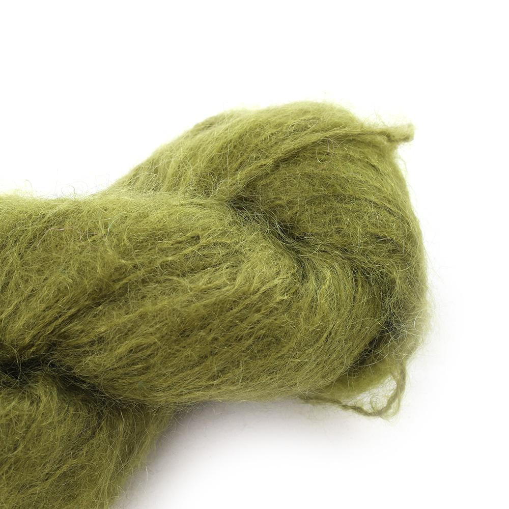 Cowgirl Blues Fluffy Mohair Semi Solids 100g 11-Olive