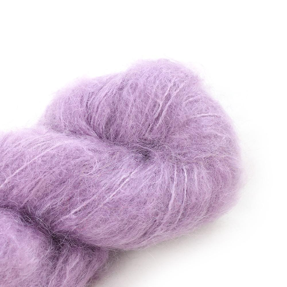 Cowgirl Blues Fluffy Mohair Semi Solids 100g 33-Orchid Blush