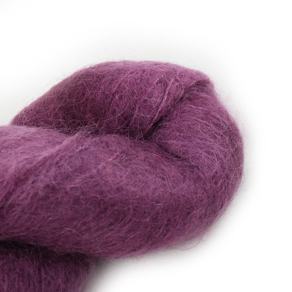 Cowgirl Blues Fluffy Mohair Semi Solids 100g 34-Plum