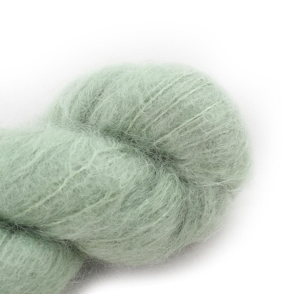 Cowgirl Blues Fluffy Mohair Semi Solids 100g 14-Sage