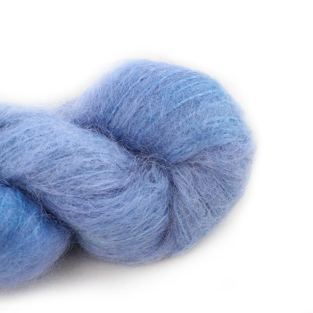 Cowgirl Blues Fluffy Mohair Semi Solids 100g  16-Seagrass