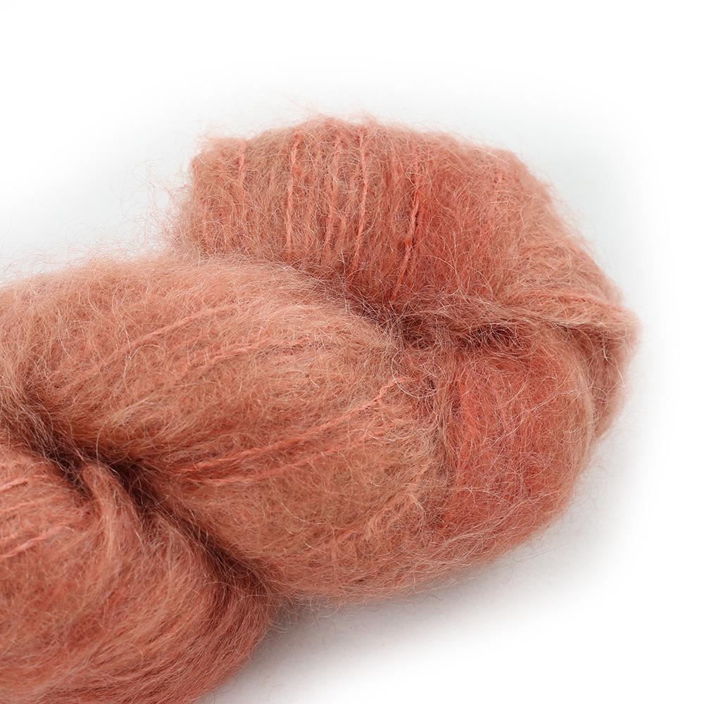 Cowgirl Blues Fluffy Mohair Semi Solids 100g 31-Terracotta