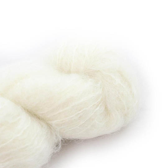 Cowgirl Blues Fluffy Mohair Semi Solids 10-Natural