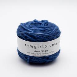 Cowgirl Blues Ensfarvet Aran Single  discontinued