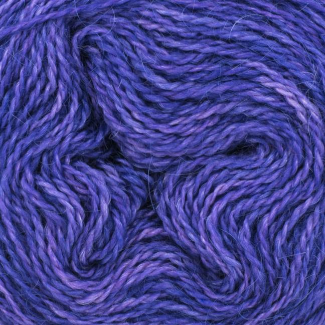 Cowgirl Blues Ensfarvet Aran Single  Blueberry