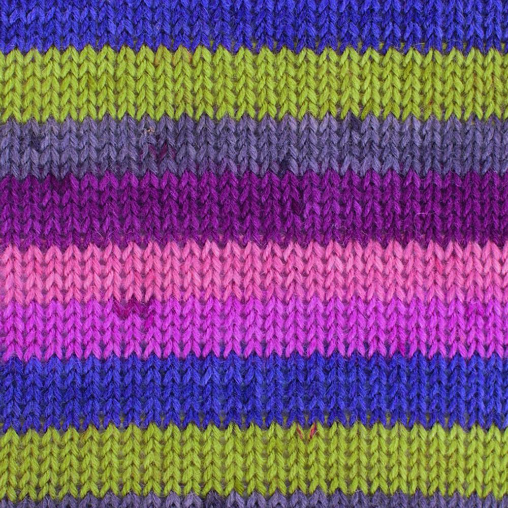 Kremke Soul Wool Edelweiss 50 Pink brass stripes