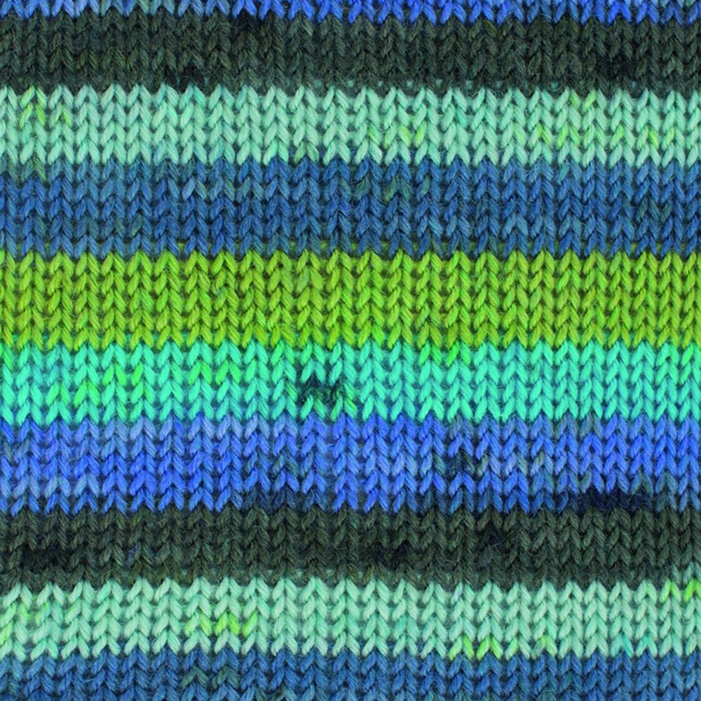 Kremke Soul Wool Edelweiss 50 Green turquoise stripes