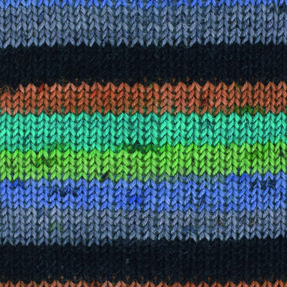 Kremke Soul Wool Edelweiss 50 Purple green stripes