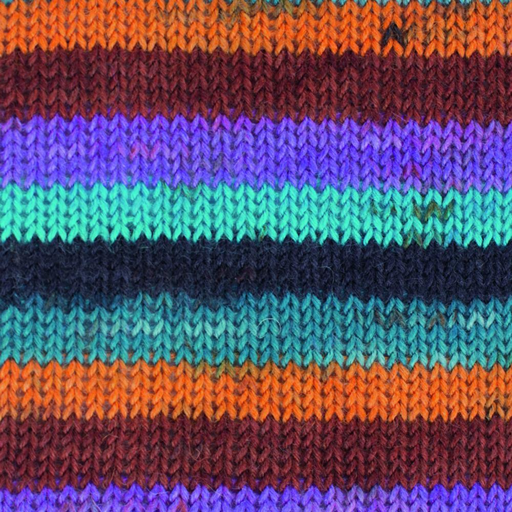 Kremke Soul Wool Edelweiss 50 Orange blue stripes