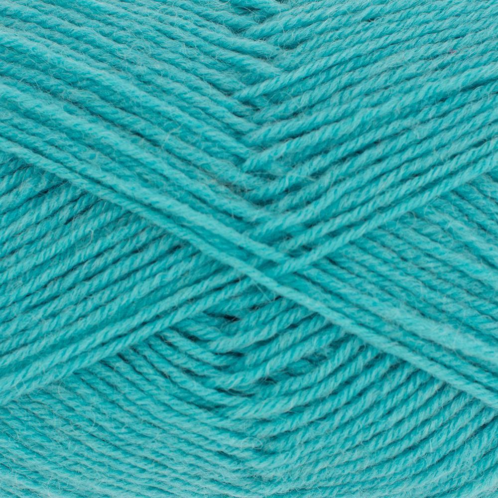 Kremke Soul Wool Edelweiss 50 Turquoise solid