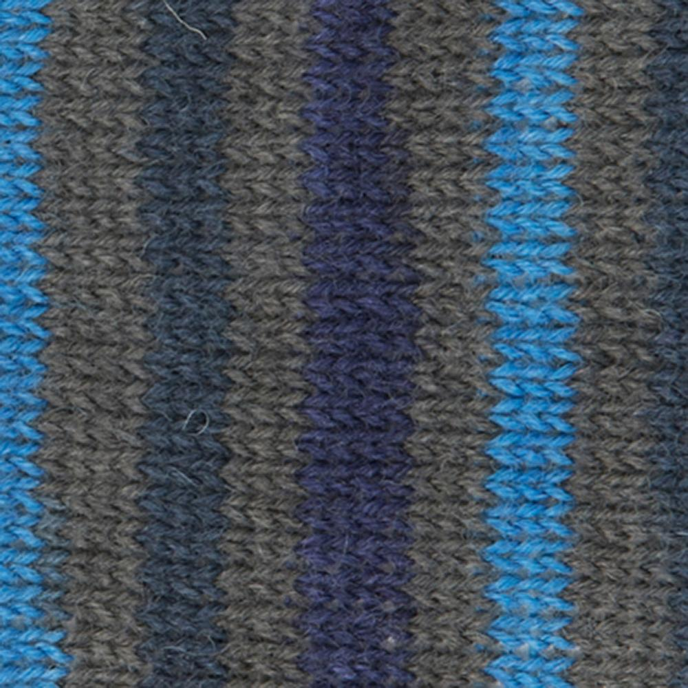 Kremke Soul Wool Edelweiss 4ply 100 Blue Grey striped