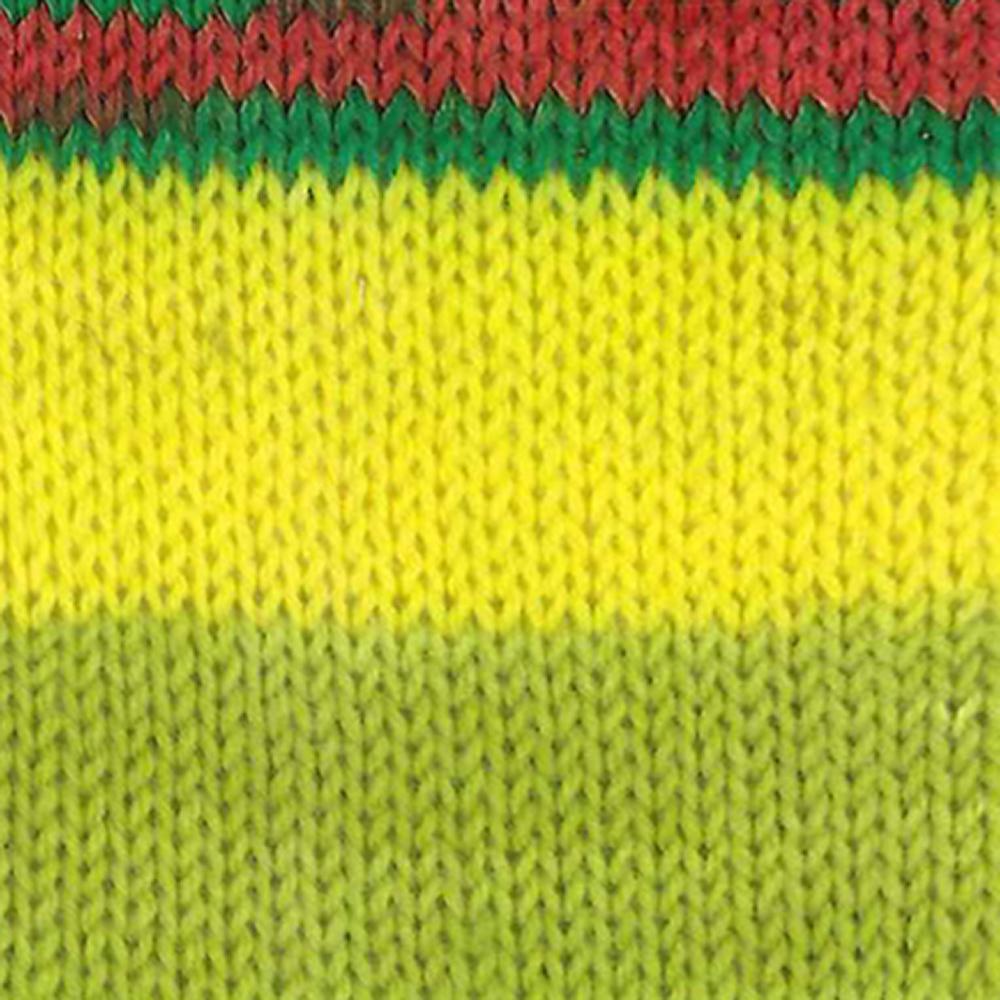 Kremke Soul Wool Edelweiss 6 ply 150 Kiwi red striped