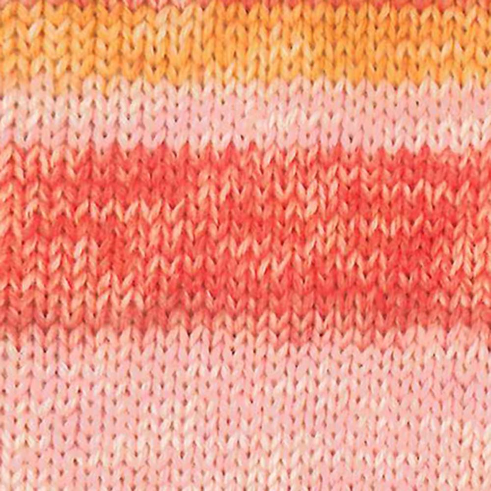 Kremke Soul Wool Edelweiss 6 ply 150  Rosa mit Orange