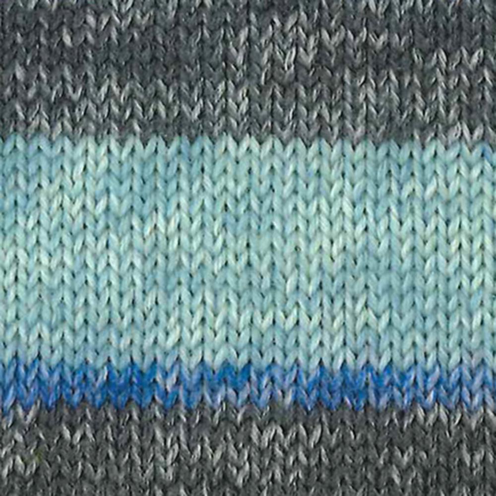Kremke Soul Wool Edelweiss 6 ply 150 Blue with grey