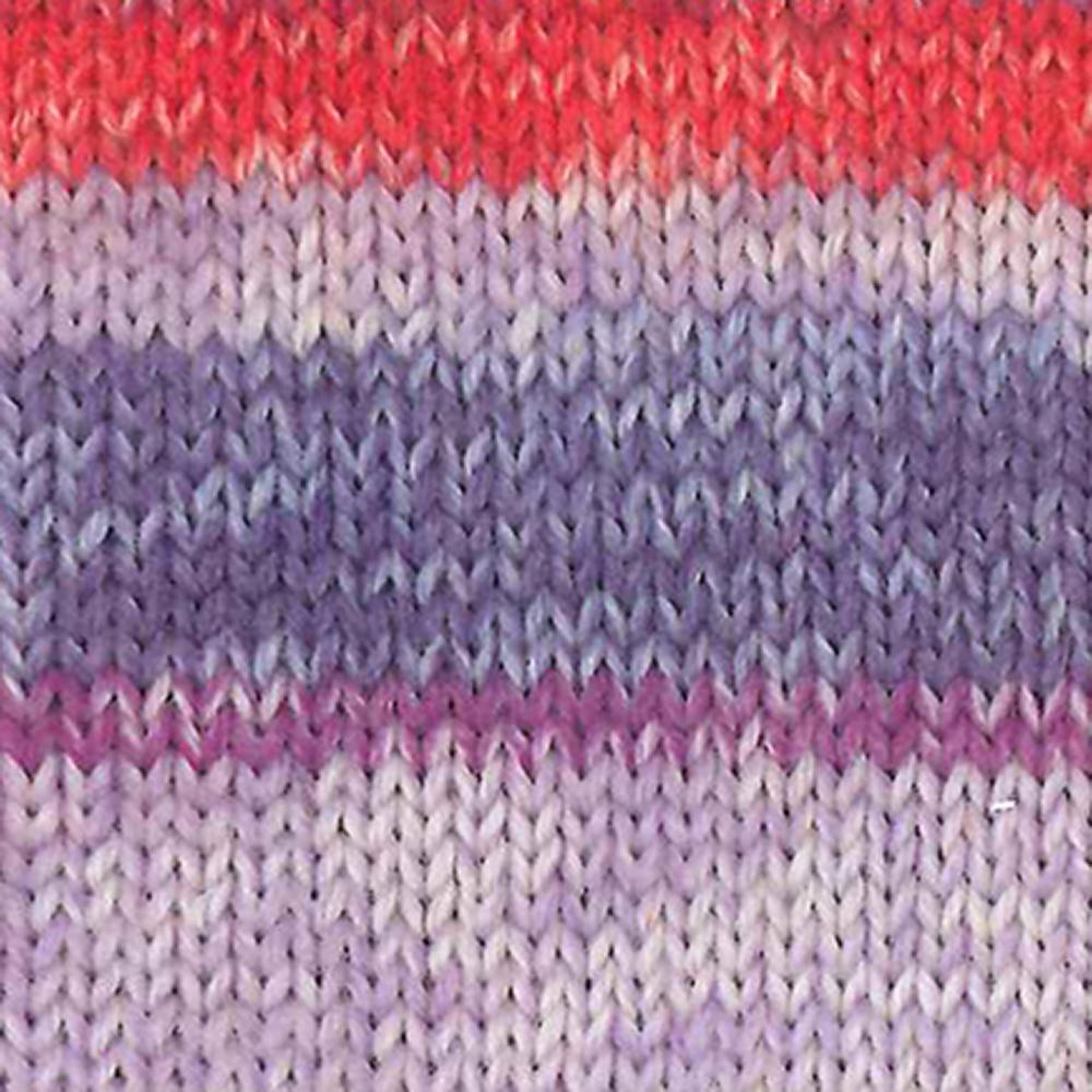 Kremke Soul Wool Edelweiss 6 ply 150 Lilac with red