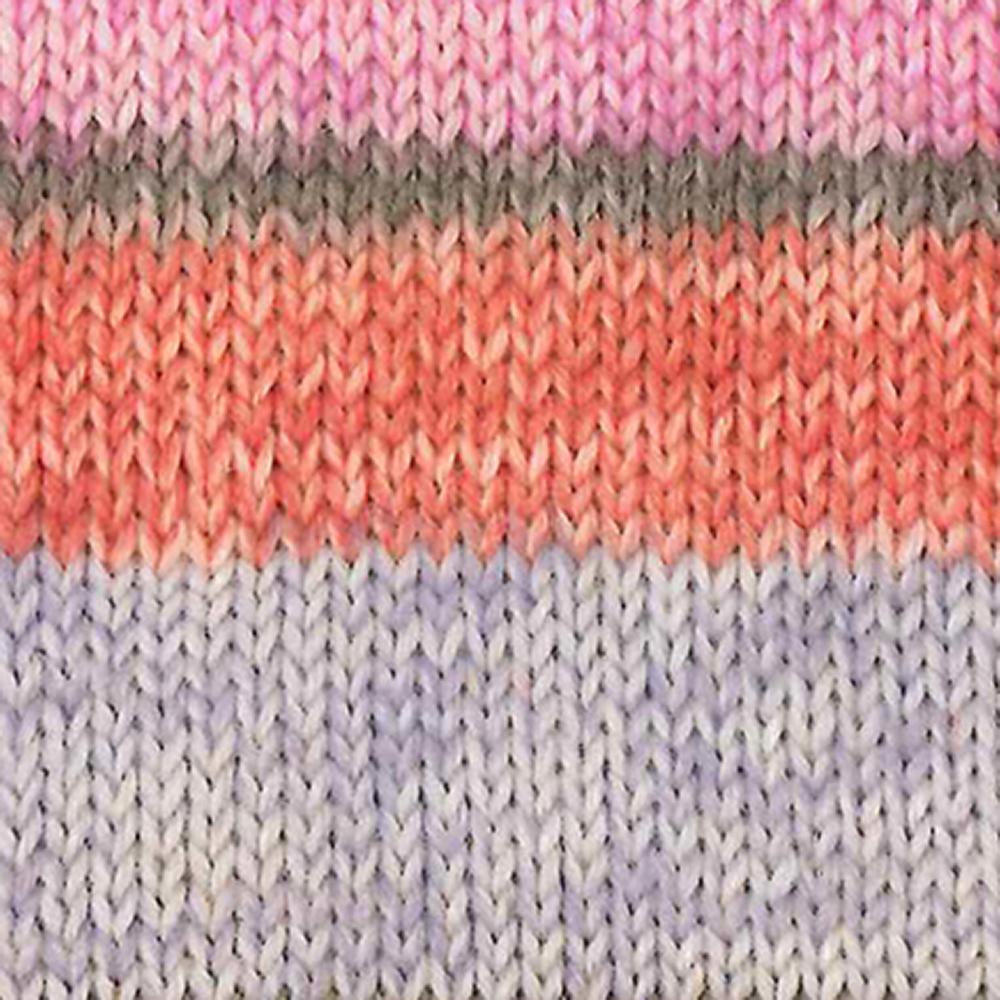 Kremke Soul Wool Edelweiss 6 ply 150  Hellblau mit Orange