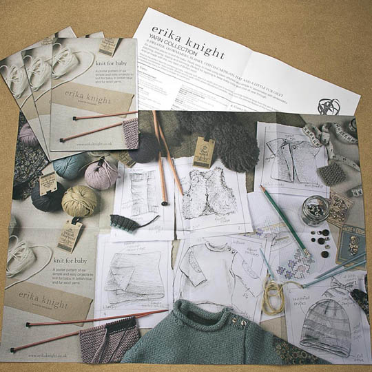 Erika Knight Printed Pattern Posters Knit it Tonight