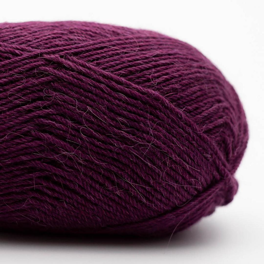 Kremke Soul Wool Edelweiss Alpaka 4-ply 25g Dunkelviolett