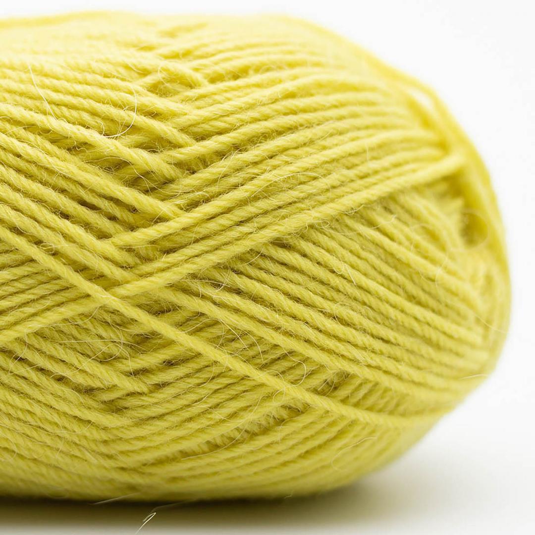 Kremke Soul Wool Edelweiss Alpaka 4-ply 25g Grün-Gelb