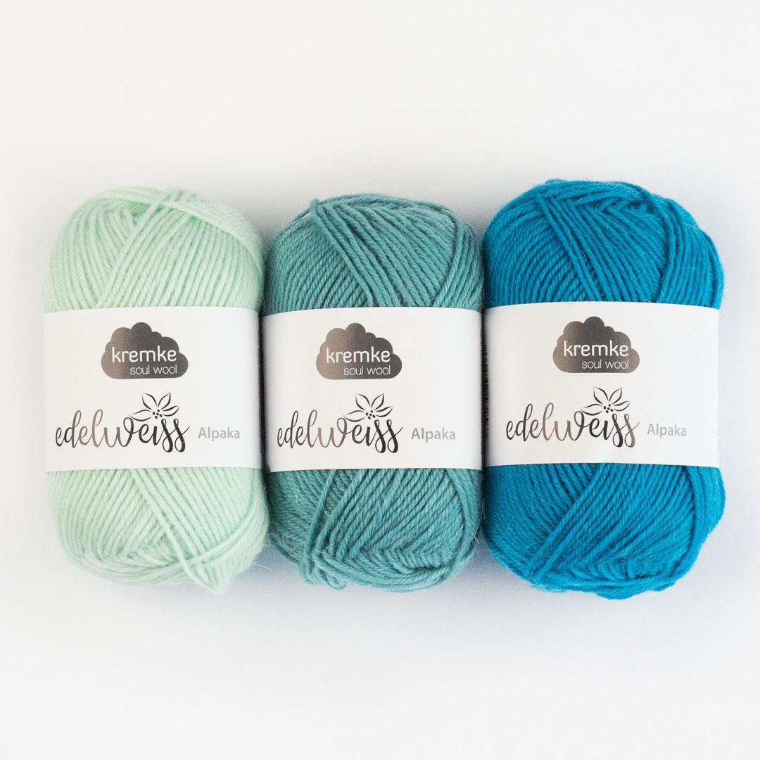 Kremke Soul Wool Edelweiss Alpaka 4-ply 25g  Naturweiß