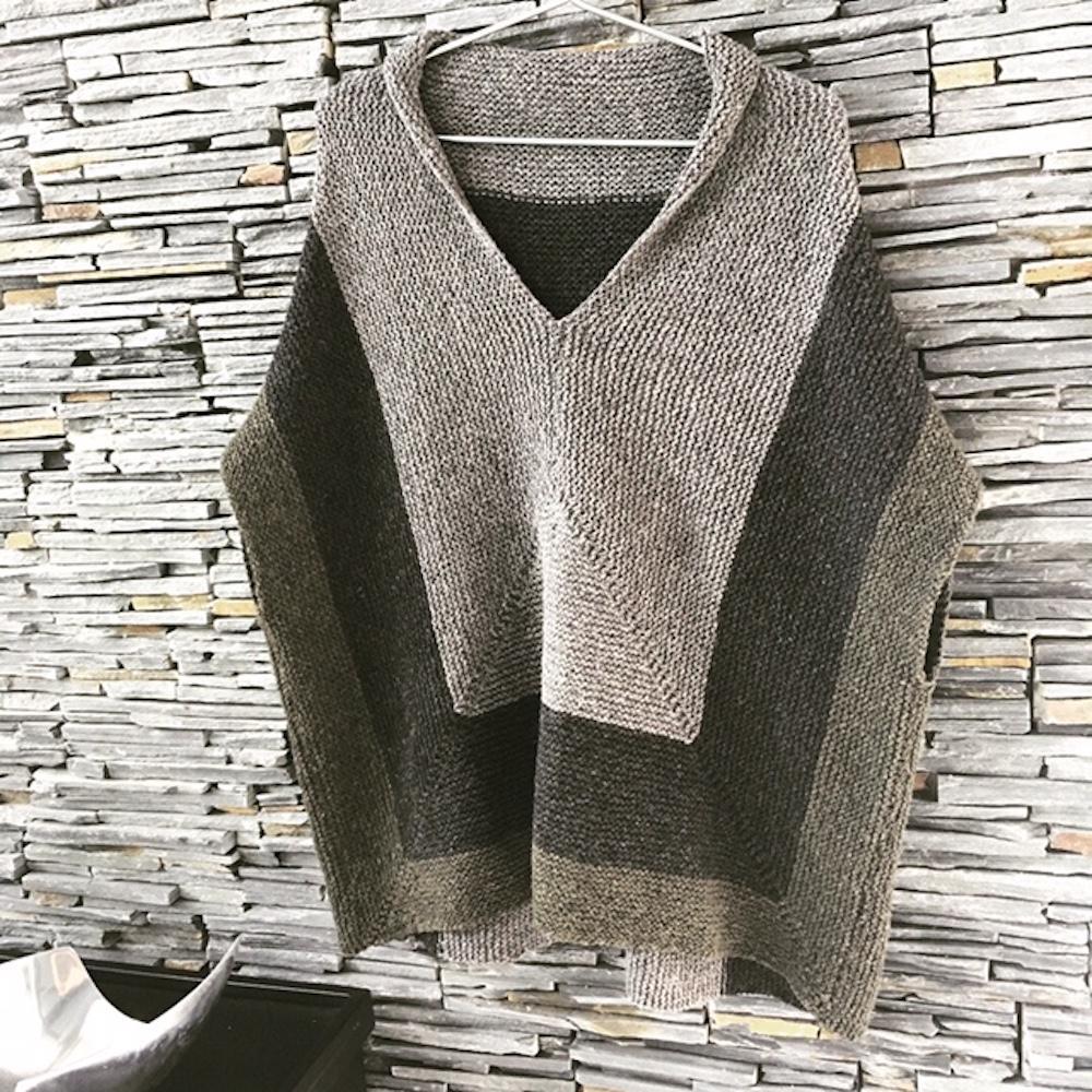 BC Garn Strickset Oversize Pullover Melange GOTS